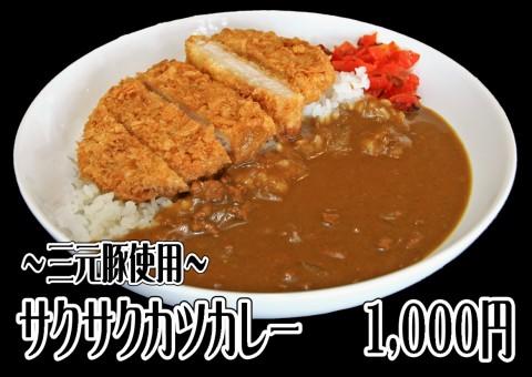 サクサク三元豚のカツカレー 1,000円